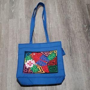 Luna Indians Blue Toucan/Parrot Bag